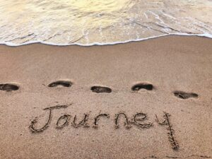 Journey written on the sand